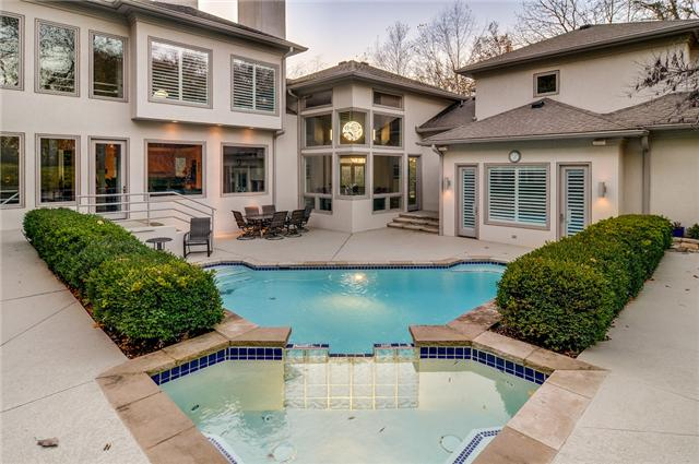 top five pools in modern mansions for sale in nashville