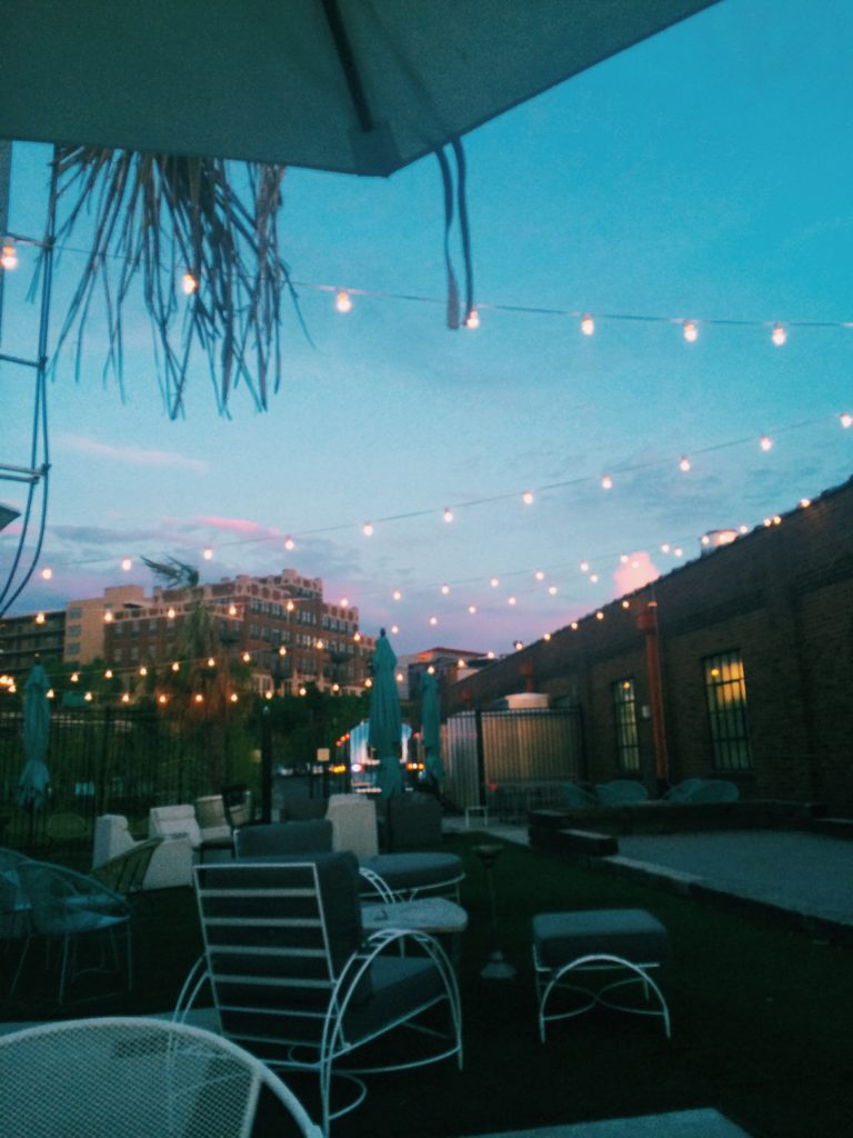 The Patio At Pinewood Social Can Feel Like Being Transported To Palm  Springs. It Offers